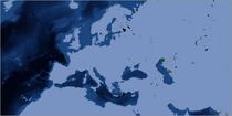 Bonne Greater Europe Bathymetry Map