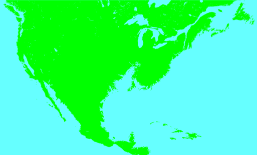 USA Flooded map