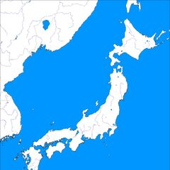 River map of Japan and immediate surrounding regions.