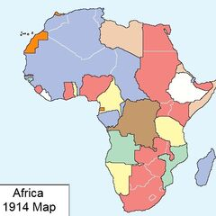 Africa 1914 Map with european colonial possessions by: YunnoxxSRB