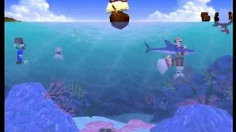 Mario Party- 4 Player Minigame - Treasure Divers
