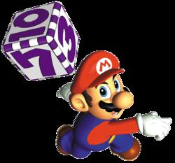 Mario Hitting Dice Block