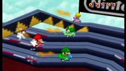Mario Party- 4 Player Minigame - Slot Car Derby -1