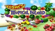 Yoshi's Tropical Island Logo