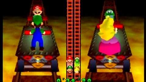 Video Mario Party 2 Vs 2 Minigame Handcar Havoc Mario Party