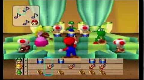 Mario Party- 4 Player Minigame - Mario Bandstand