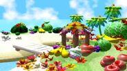 Yoshi's Tropical Island Scene