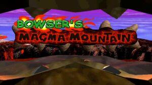 Bowser's Magma Mountain Logo