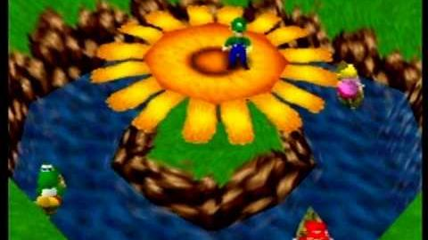 Mario Party- 1 vs. 3 Mini-Game - Coin Shower Flower