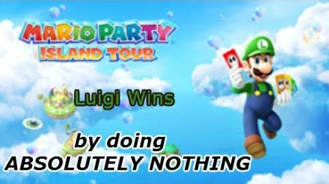 Mario Party Island Tour Luigi wins by doing absolutely nothing by StreetPass Princeton-1