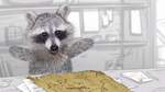 Raccoon wants to tell a story