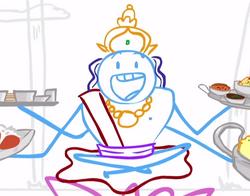 Vishnu in Dick Figures