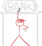 Red robbing a bank. Again.