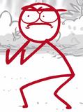 DFTM- Red's poop face