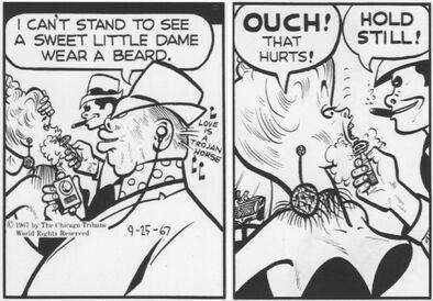 Piggy's men shave Mrs. Chin Chillar 9-25-1967