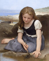 -Le Crabe- by William-Adolphe Bouguereau