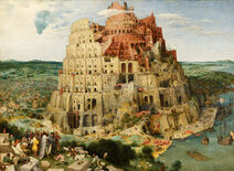 Pieter Bruegel the Elder - The Tower of Babel (Vienna) - Google Art Project - edited