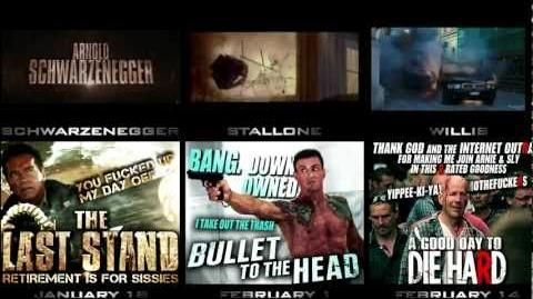 DIE HARD 5 vs BULLET TO THE HEAD vs THE LAST STAND - 3 Trailer --SIDE-BY-SIDE-- Comparison