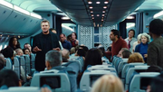 DHS- Bill Marks calms down passengers in the 2014 movie Non-Stop