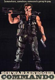 DHS- Commando 1985 original movie poster
