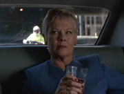 DHS- Dame Judi Dench as MI6 head character M in 007 Tomorrow Never Dies (1997)