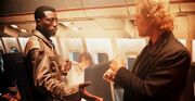 A pic from Passenger 57 with Wesley Snipes