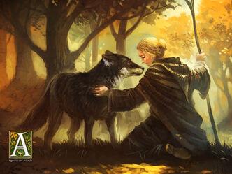 Eara und ein Wolf