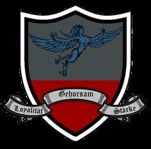 Wappen - Porcio mit Spruchband