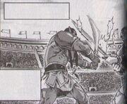 Thrall als Gladiator
