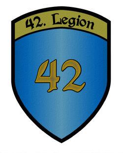 42LegionWappenSchriftartV1AufnäherTest2