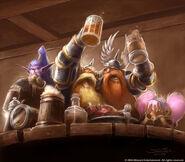 Zwerge beim Trinken