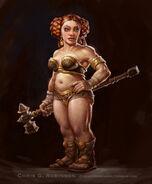 Female dwarf concept