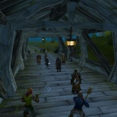 Banditenhinterhalt auf der Brücke.