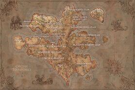 Übersichtskarte der Orc-Klans in Draenor