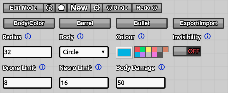ConIB-Body Color Settings