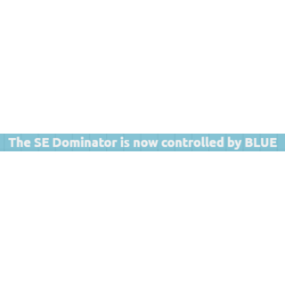 The notification that comes up when Blue controls a Dominator