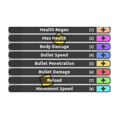 Auto Smasher's Stat table (notice how the stats are upgradable to 10.)
