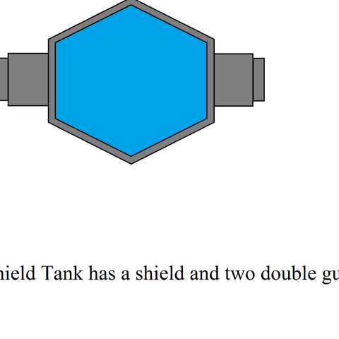 shield tank has a shield and two double guns