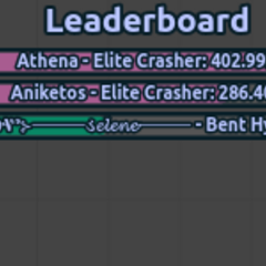𝓞𝓬𝓪 dominating with 2 Elite Crashers on the Leaderboard.