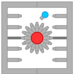 The Chamber with its shields closed, with level 45 tank for scale.