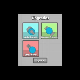 Upgrade menu as <a href=