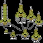 Zathsu Enemies Scorpio Growth Stages