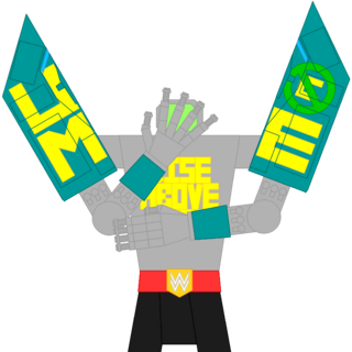 CENA's true form, using its namesake's signature taunt. Note that normally half of its body would be submerged underwater, the sea level roughly around the waist.
