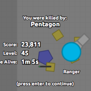 The death screen when you're killed as a Ranger.