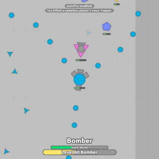A Bullet Bomber shooting Traps at a Sentry with it's Back <a href=
