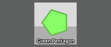 Diep.io.PolygonProfile Green Pentagon NEW Nav