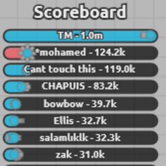 TDM (2 teams) Current Scoreboard