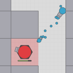 The new AI will think you are behind a wall. The old AI would still fire. but its large bullet would collide with the wall.