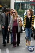 Miley cyrus and justin gaston diesel-adidas-and-seven-for-all-mankind