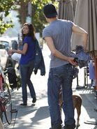 Paul wesley and torrey devitto walking dog
